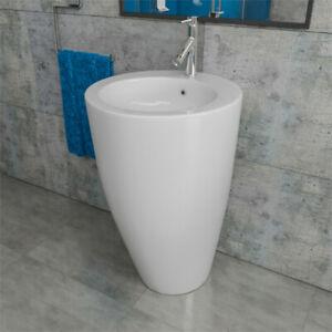 Design Keramik Standwaschtisch Standwaschbecken Waschtischsäule Säule KBE1