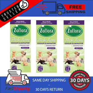 Zoflora Disinfectant Fresh Home Green Valley 500ml Pack of 3 Dog Pet Cat Animal