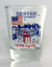 DENVER COLORADO GREAT AMERICAN CITIES COLLECTION SHOT GLASS SHOTGLASS