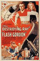 Larry Crabbe Flash Gordon vintage movie poster print #4