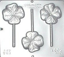 Four Leaf Clover Lollipop Chocolate Candy Mold Irish St. Patrick's Day  4001 NEW
