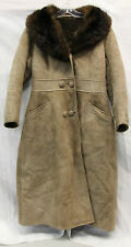 Wonderful World of Sheepskin Womens Leather Fur Sherpa Jacket Coat Vintage