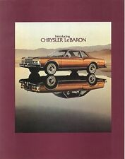 1977 Chrysler LeBaron Intro (NOS) Sales Brochure