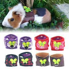 Pet Hamster Guinea Pig Harness & Leash Small Animals Adjustable Lead Strap Vest