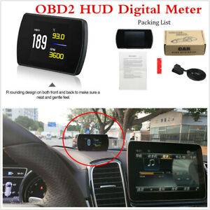 Multifunc Head Up Display Digital Speed Projector For Cars With OBD2&EUOBD Port