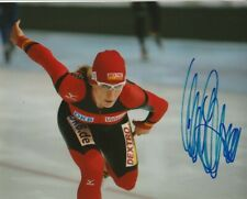 SEXY ANNI FRIESINGER SIGNED GERMANY SPEED SKATING 8x10 PHOTO #2 ANNA PROOF