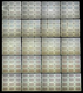USA. 1873. 068 - 071. STATE OFFICIAL. (REPRODUCTION.) 240 MINI-SHEETS / 10 PCs.