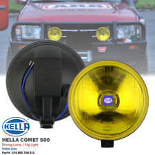 1 Pair HELLA Comet 500 Yellow Lens H3 12V Round Driving Spot Light Fog Lamp