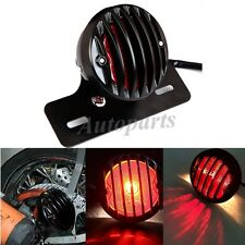 Motorcycle Rear Tail Integrated Light LED Black Plates Mount Brake Stop Running