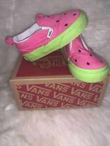 🍉 Vans Watermelon Red Green Toddler Size 5 Shoes 🍉