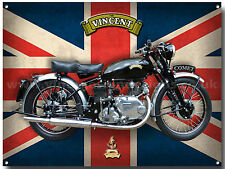 VINCENT COMET MOTORCYCLE METAL SIGN.VINTAGE MOTORCYCLES,CLASSIC MOTORCYCLES.