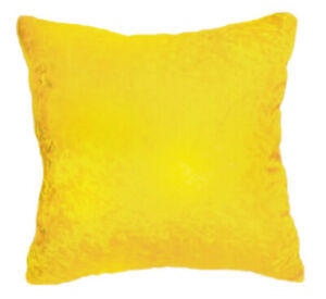 """Yellow crushed velvet Pillow 16x16"""" new. Ameynra home decor"""