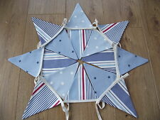 NAUTICAL BOYS  Seaside BUNTING with Clarke and Clarke Spot Stripe Star fabric