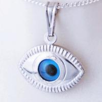 Hallmarked Sterling Silver 925 Lucky Charm Greek Pendant Evil Eye Good Luck Gift