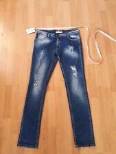 Ladies Pierre Balmain Stretchy Skinny Distressed Jeans w30-32 l32 bnwt uk12-14