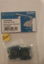 AGNH45088 align TREX 450 SPORT METAL MAIN SHAFT BEARING BLOCK NEW H45088T