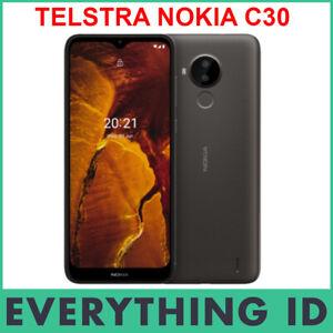 "TELSTRA NOKIA C30 4G 4GX 6.52"" SCREEN 32GB DARK GREY NANOSIM ANDROID MOBILEPHONE"