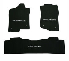 NEW! Black Floor Mats 2007-2013 Chevy Avalanche with embroidered logo set of 3