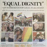 Gay Marriage Legal All U.S. States Obergefell v. Hodges LGBTQ June 28 2015