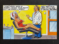 Vintage Postcard: Artist Signed Brian Perry: #A730: Dentist Comic 2053