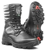 Hunt Boots Mens Black Genuine Leather Tactical Winter Work Boots Motorcycle Shoe