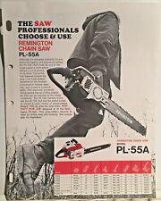 1971 Remington Chain Saw Sales Flyer PL-55A & PL-7A