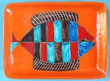 Rar: vintage piatto decorato policromo cerámica placa de pared guido Gambone Italy ~ 60