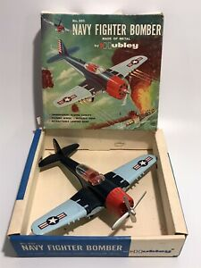 RARE NAVY FIGHTER BOMBER by HUBLEY DIE-CAST 495 Complete with BOX VINTAGE