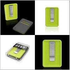 Dosh Blade Front Pocket Card Case Stainless Steel Money Clip Wallet Green Wasabi