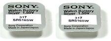 SONY set de 2 pilas 317 SR516SW / SR516 - 1,55V sony