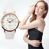 Fashion Women Stainless Steel Crystal Analog Quartz Lady Girl Dress Wrist Watch
