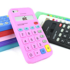 For Apple iPhone 5S 5C 5 Calculator Silicone Rubber Gel Soft Case Skin Cover