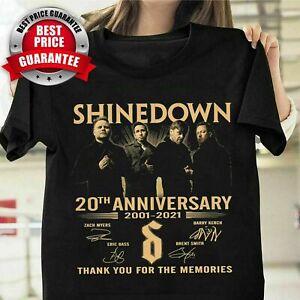 Shinedown Rock Band 20th Anniversary Signatures Fan Unisex T Shirt S-5XL Black