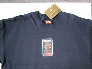 Star Wars Episode One Darth Maul Size XL Black T-Shirt Short Sleeve BNWT