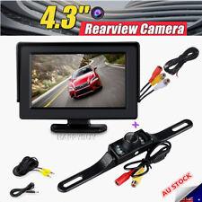 """Car Rear View Kit 4.3"""" TFT LCD Monitor +HD IR Night Vision Reversing Camera 135°"""