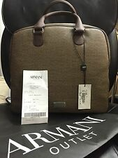 NWT$865 ARMANI COLLEZIONI Men's BUSINESS BAG Brown FREE SHIPPING!!
