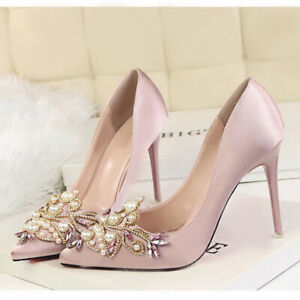 2x Rhinestone Crystal Shoe Charms Clip Wedding Pointed Shoes Decor Jewelry
