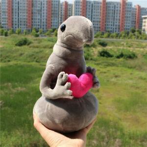 Lovely Soft Gray Hold heart Zhdun Meme Tubby Soft Stuffed Plush Toy Waiting Blob