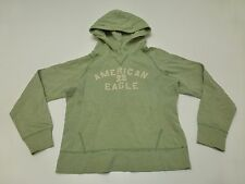 American Eagle Womens M Green Striped Hoodie Sweatshirt Great Condition