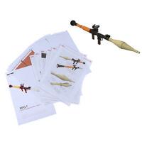 1/1 Scale RPG-7 Rocket Bazooka Launcher 3D Paper Craft Model Puzzle Kit A8A