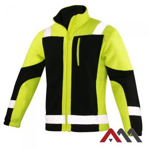 Hi Vis Viz Visibility Fleece Jacket Safety Work Mens Warm ECLIPSE