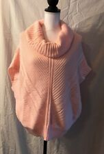 Derek Heart Sweater W/Doleman Sleeves, Size Large, Pink, Acrylic