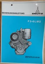 Deutz Motoren F 3 - 6 L 912 Bedienungsanleitung