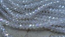 Glasschliffperlen Rondell graurose 6x4mm Perlen 11089