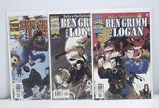 Before the Fantastic 4 Ben Grimm and Logan #1 2 3 Run Set CR306