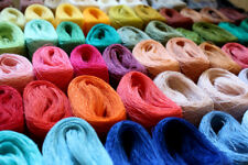 linen embroidery thread set - 66 colors LINEN yarn palette - 66 tiny balls