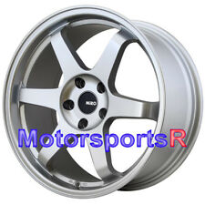 Miro 398 19x8.5 +35 Silver Rims Concave Wheels 5x114.3 04 11 Mazda Rx8 Rx7 FD FC