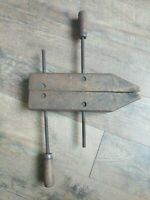 """Vintage Hartford Clamp Company 14"""" Adjustable Wood Screw Clamp Made in USA"""