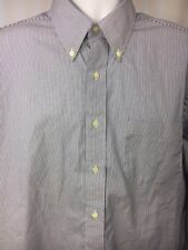 Brooks Brother Men's Micro Stripe Traditional 100% Cotton Shirt, Size 17-34