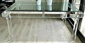 Glass Modern Dining Tables For Sale In Stock Ebay